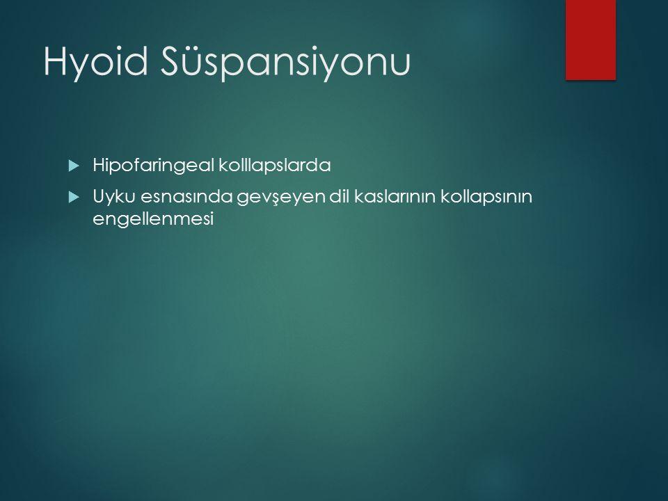 Hyoid Süspansiyonu Hipofaringeal kolllapslarda