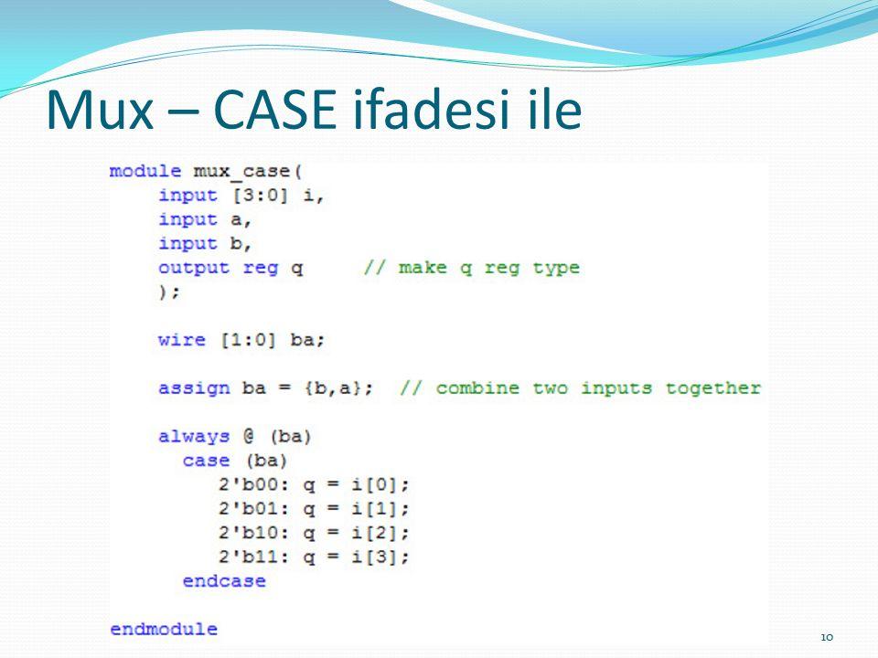 Mux – CASE ifadesi ile