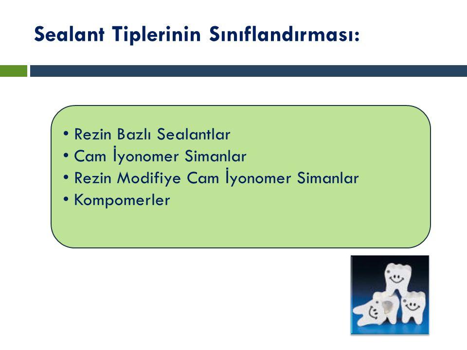 Sealant Tiplerinin Sınıflandırması: