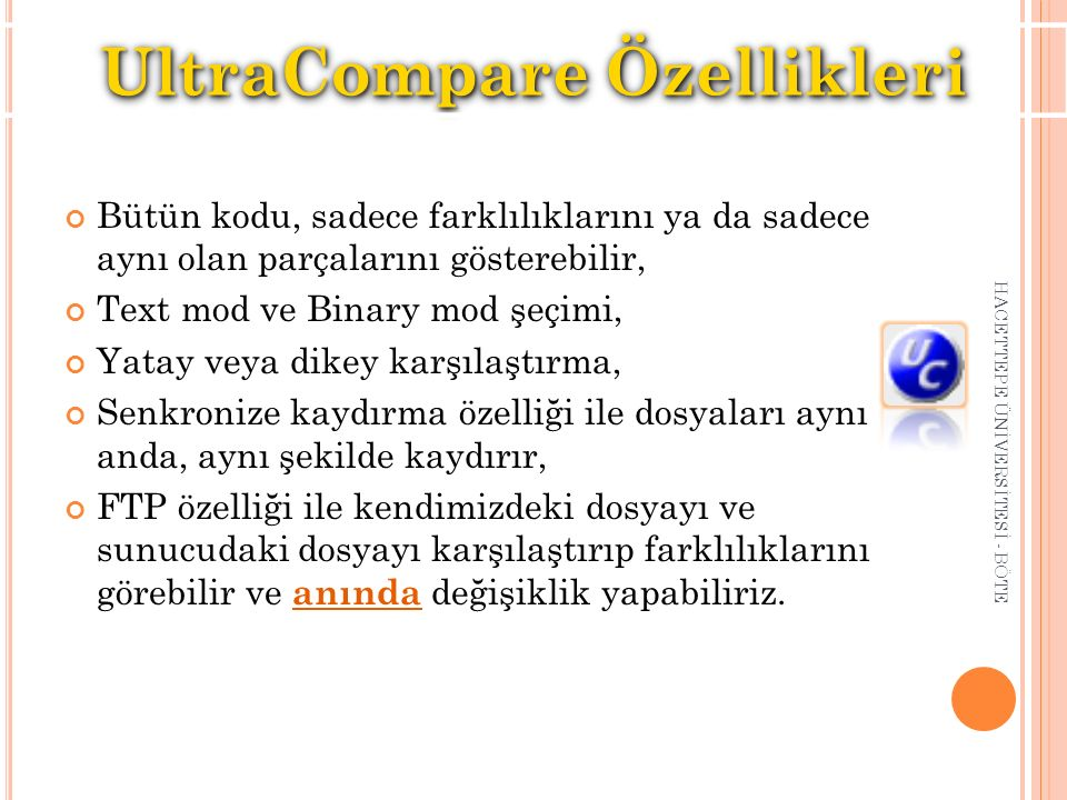 UltraCompare Özellikleri