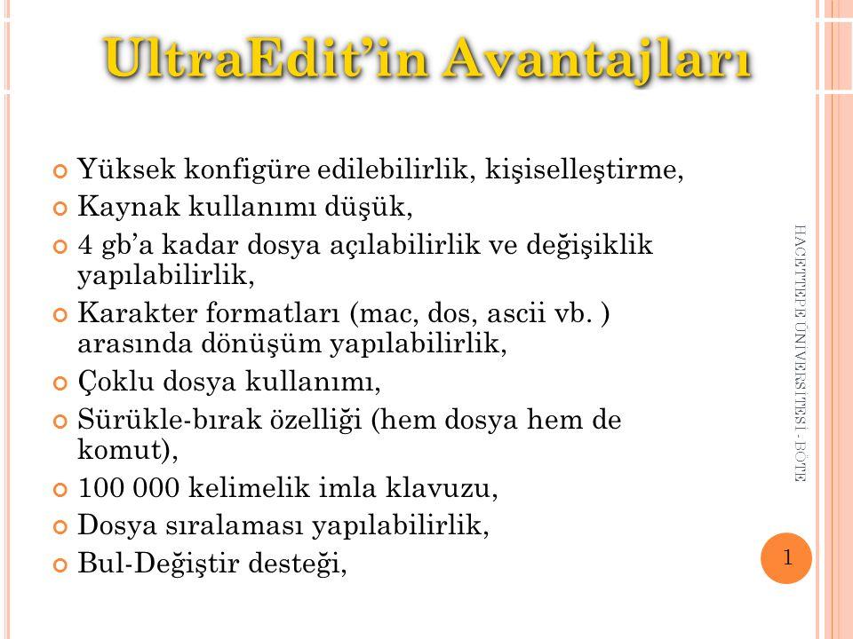 UltraEdit'in Avantajları