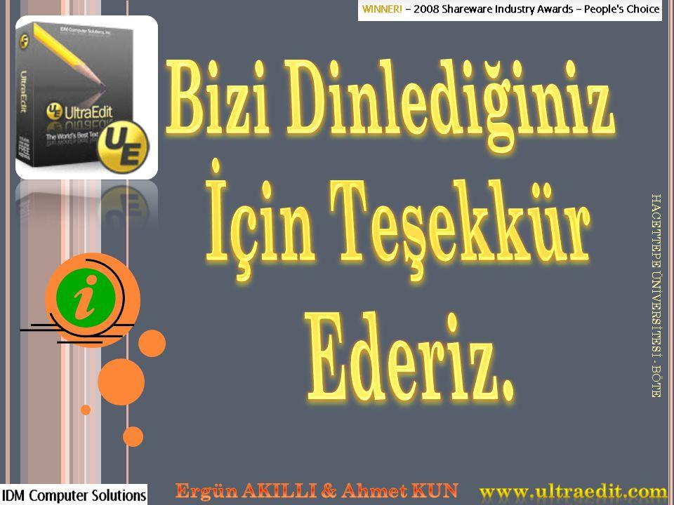 Bizi Dinlediğiniz İçin Teşekkür Ederiz. Ergün AKILLI & Ahmet KUN
