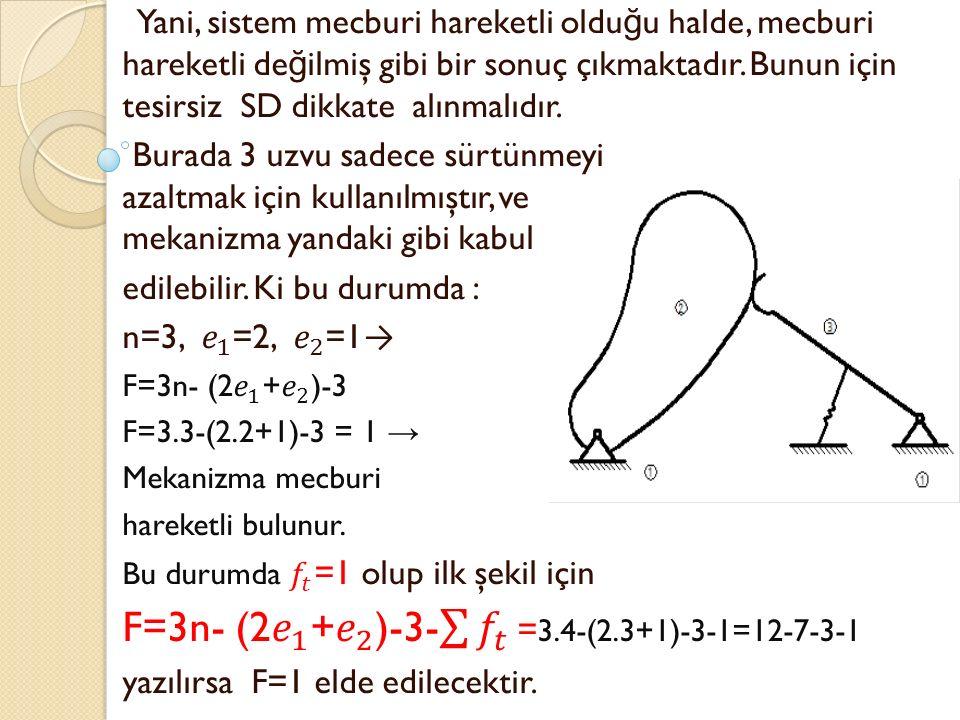F=3n- (2 𝑒 1 + 𝑒 2 )-3- 𝑓 𝑡 =3.4-(2.3+1)-3-1=12-7-3-1