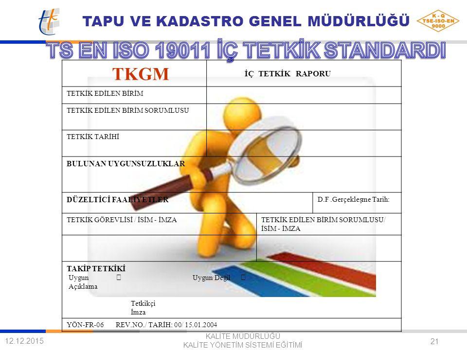 TS EN ISO 19011 İÇ TETKİK STANDARDI