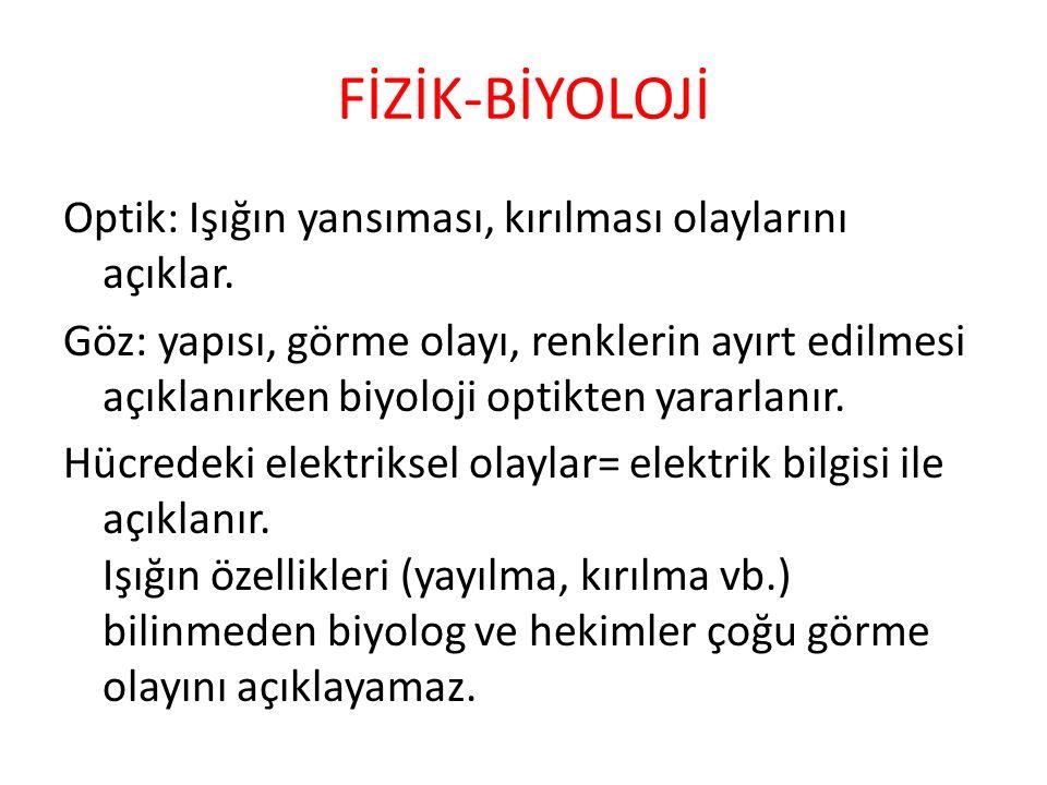 FİZİK-BİYOLOJİ