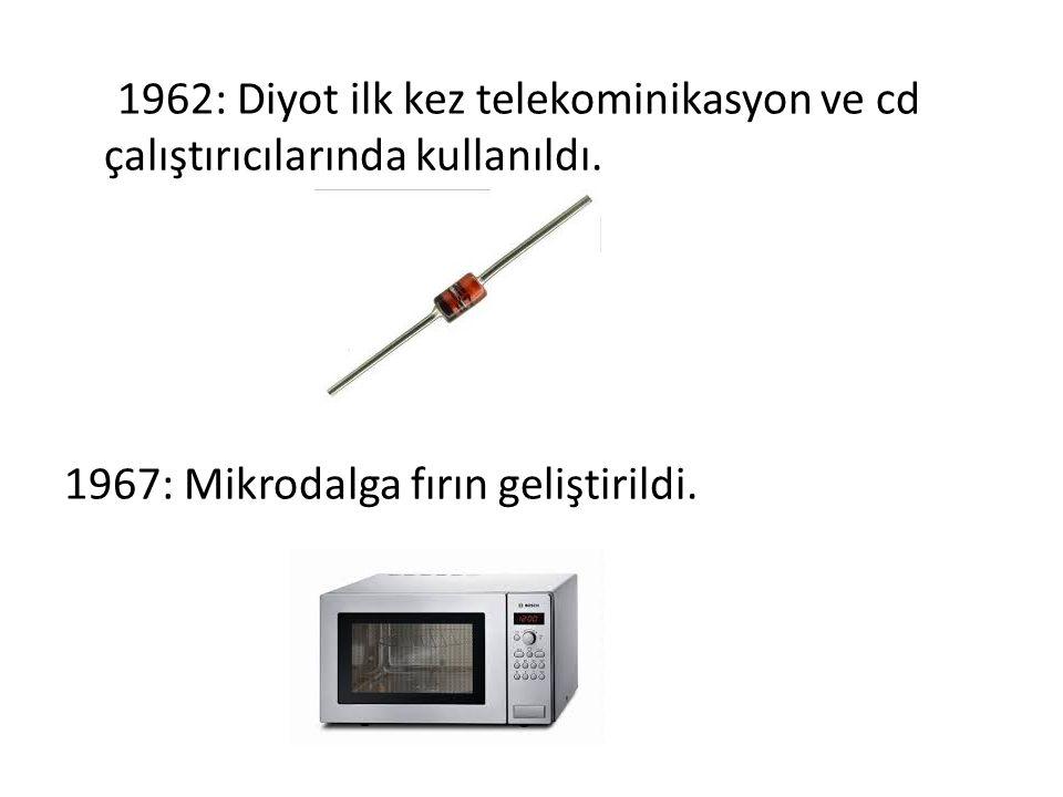 1962: Diyot ilk kez telekominikasyon ve cd çalıştırıcılarında kullanıldı.