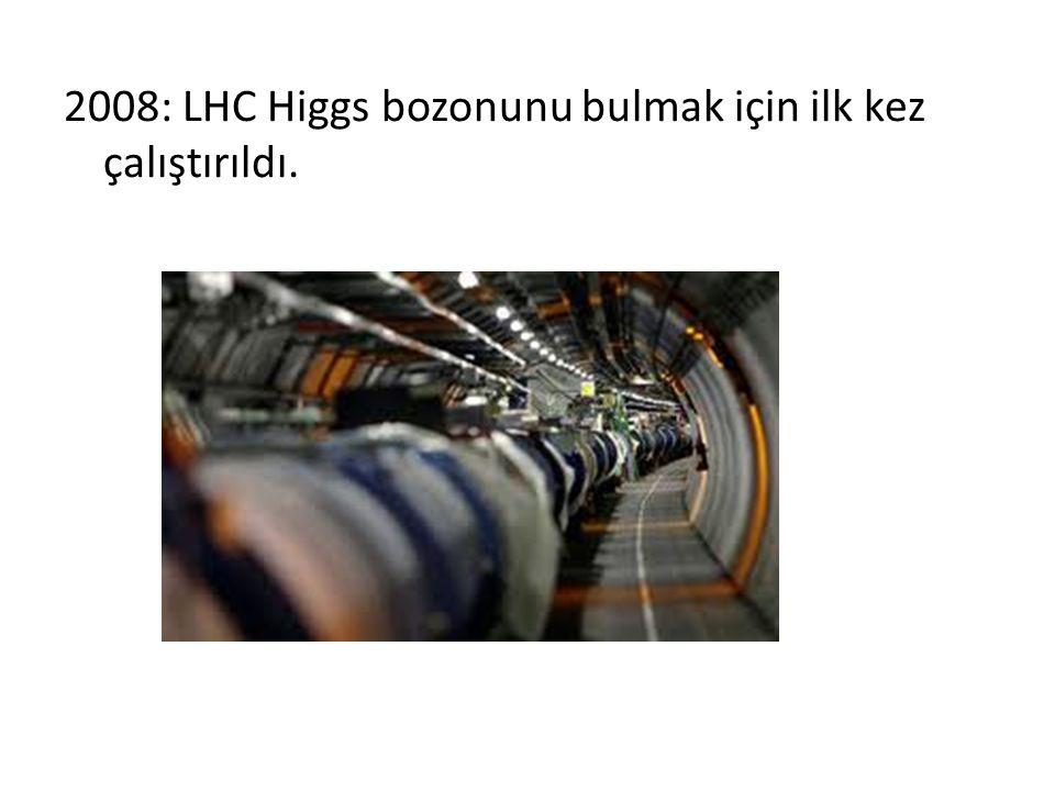 2008: LHC Higgs bozonunu bulmak için ilk kez çalıştırıldı.