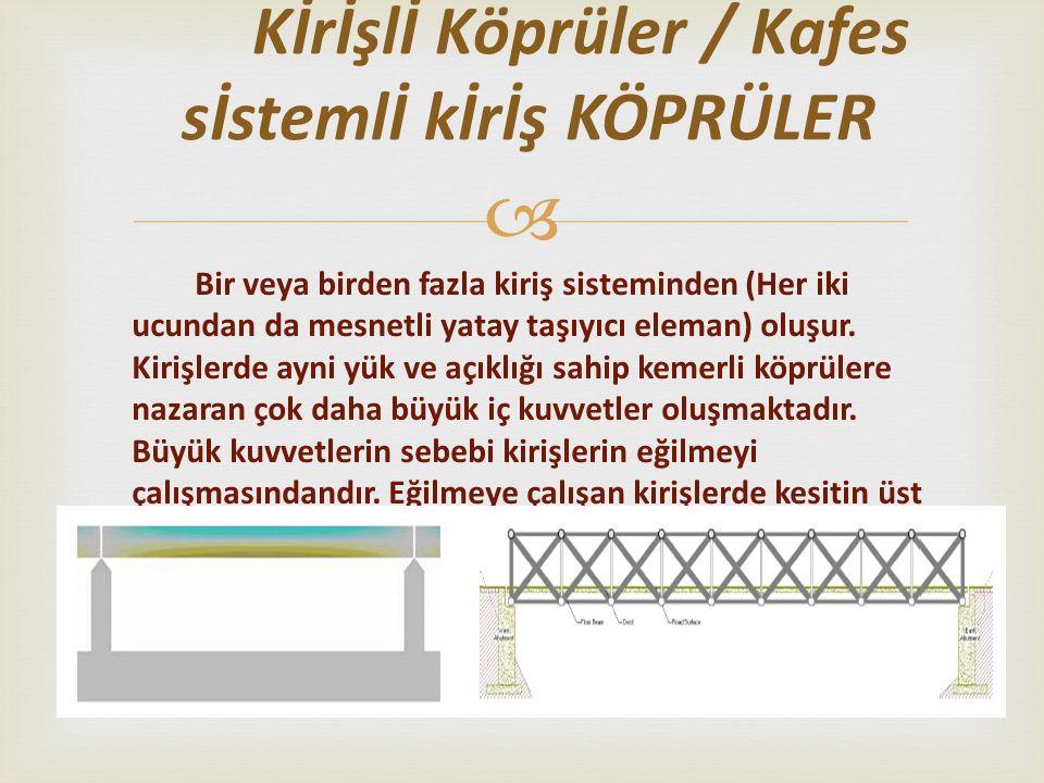 Kİrİşlİ Köprüler / Kafes sİstemlİ kİrİş KÖPRÜLER