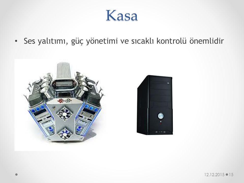 Kasa Ses yalıtımı, güç yönetimi ve sıcaklı kontrolü önemlidir