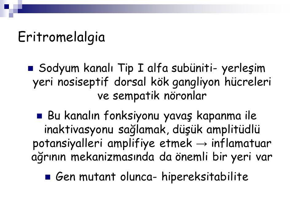 Gen mutant olunca- hipereksitabilite