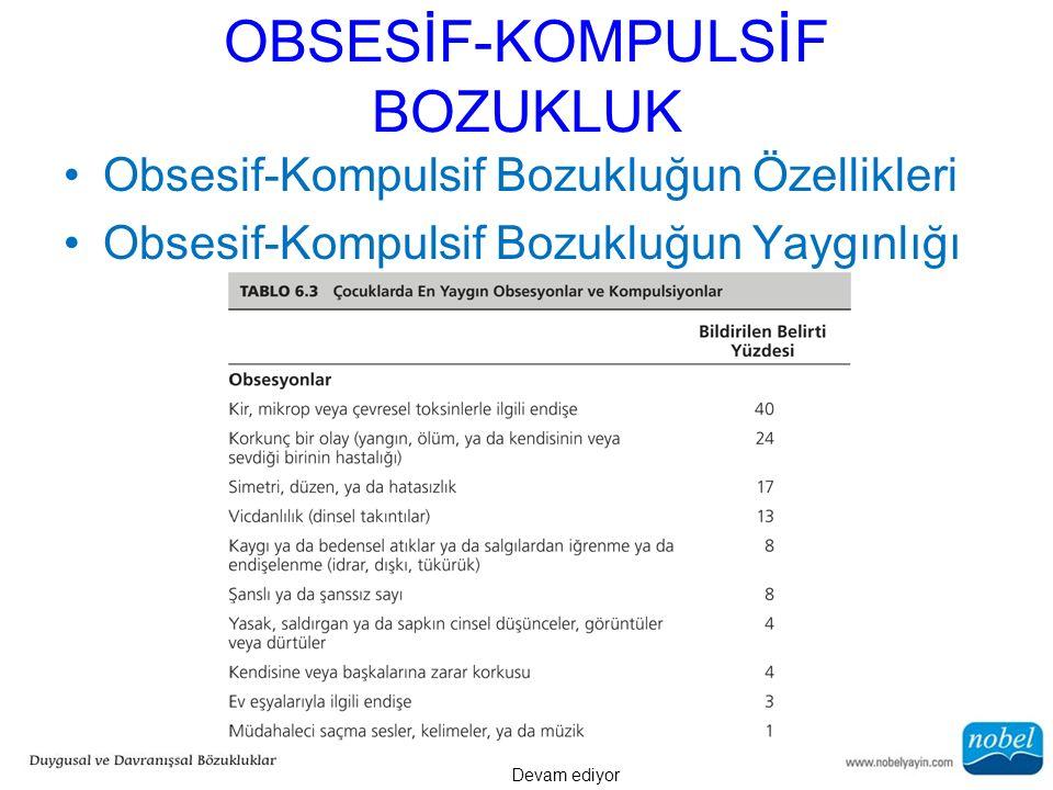 OBSESİF-KOMPULSİF BOZUKLUK