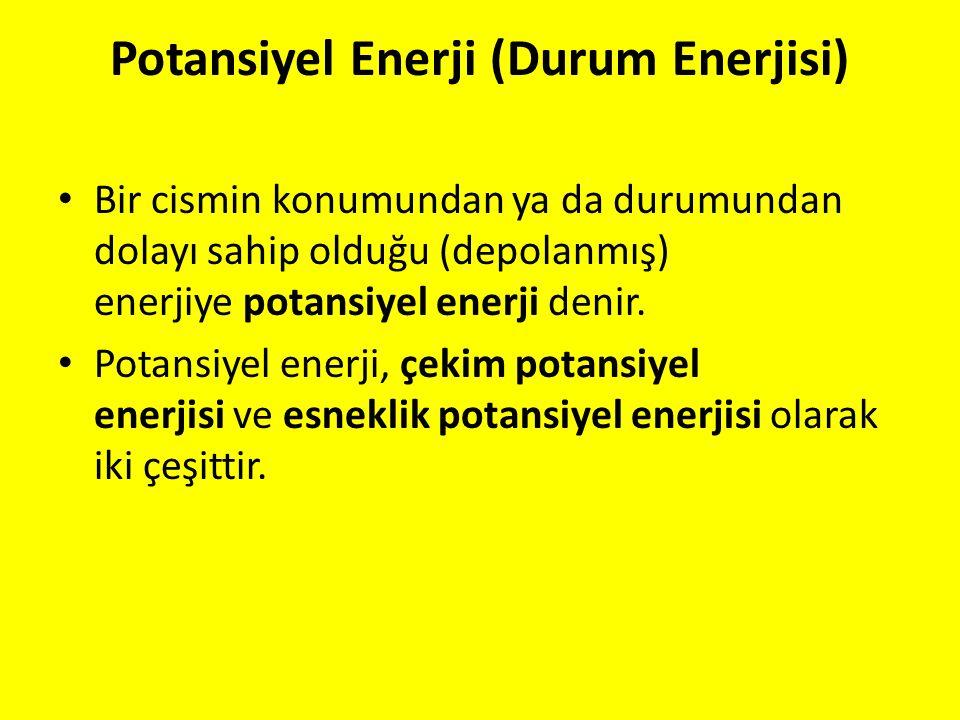 Potansiyel Enerji (Durum Enerjisi)