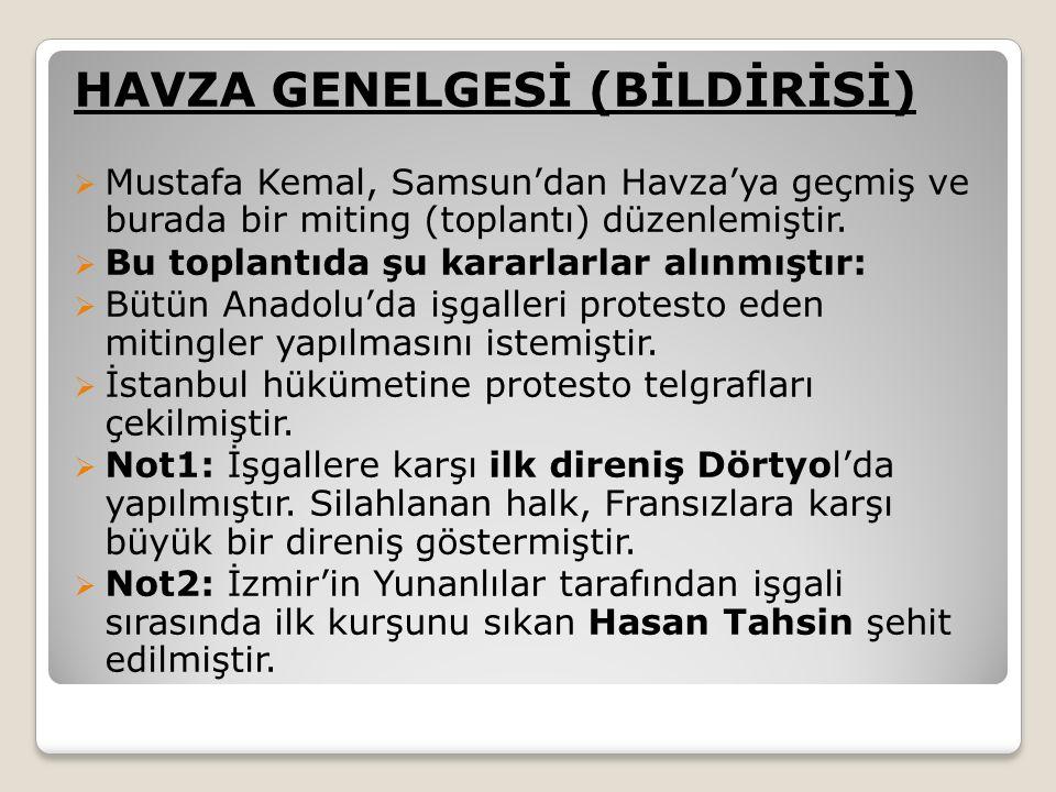 HAVZA GENELGESİ (BİLDİRİSİ)