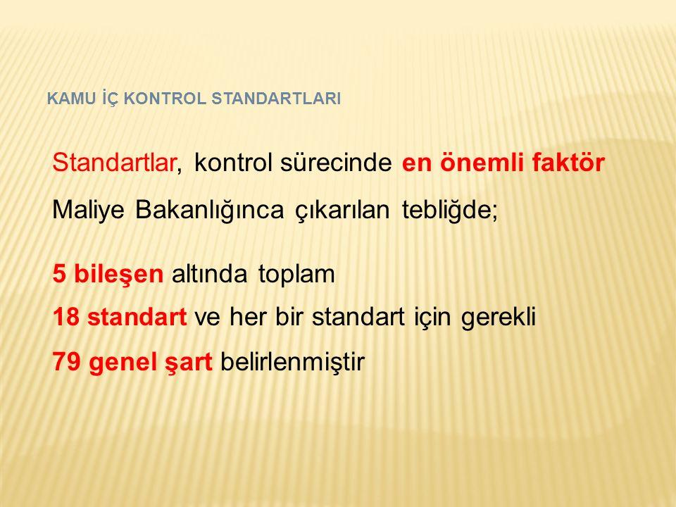 Standartlar, kontrol sürecinde en önemli faktör