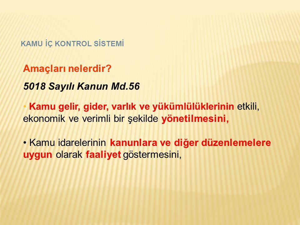 Amaçları nelerdir 5018 Sayılı Kanun Md.56