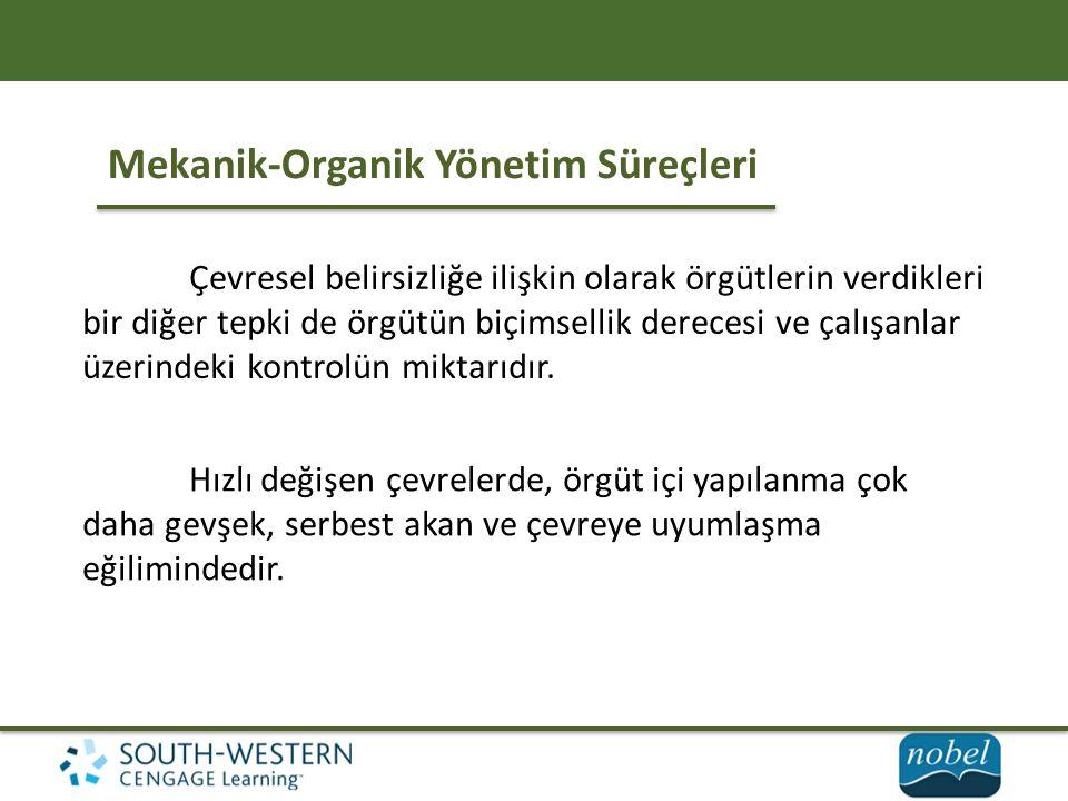 Mekanik-Organik Yönetim Süreçleri