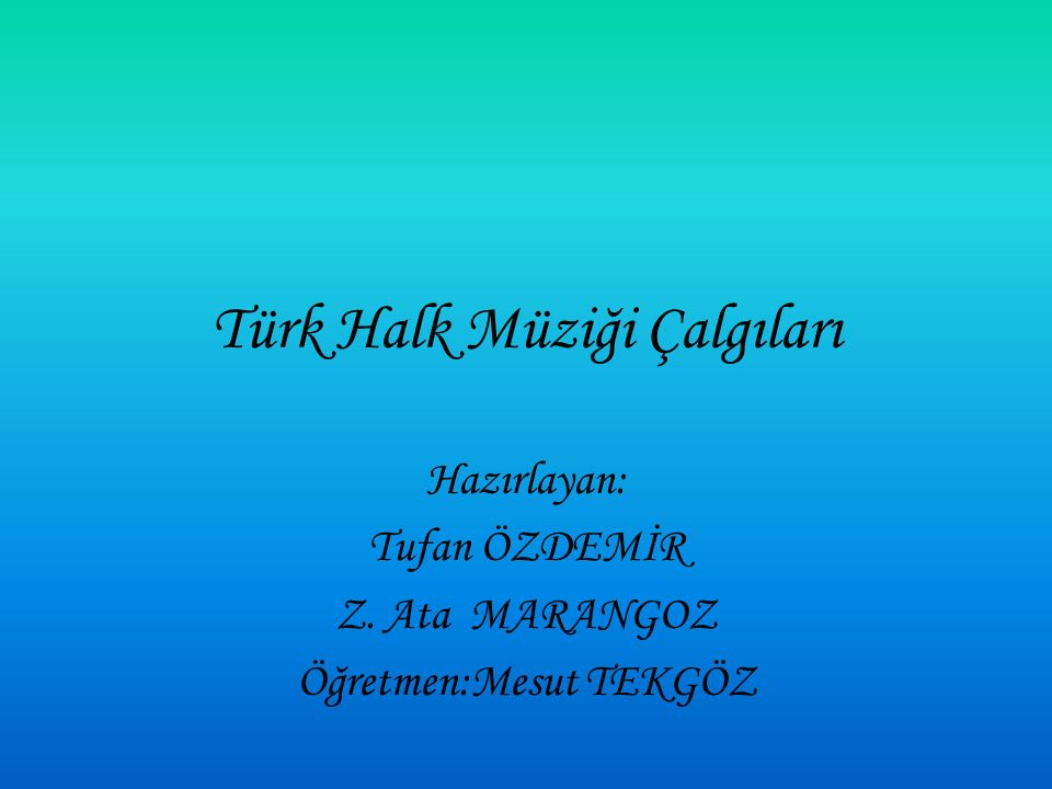Türk Halk Müziği Çalgıları