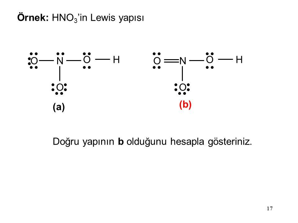 Örnek: HNO3'in Lewis yapısı
