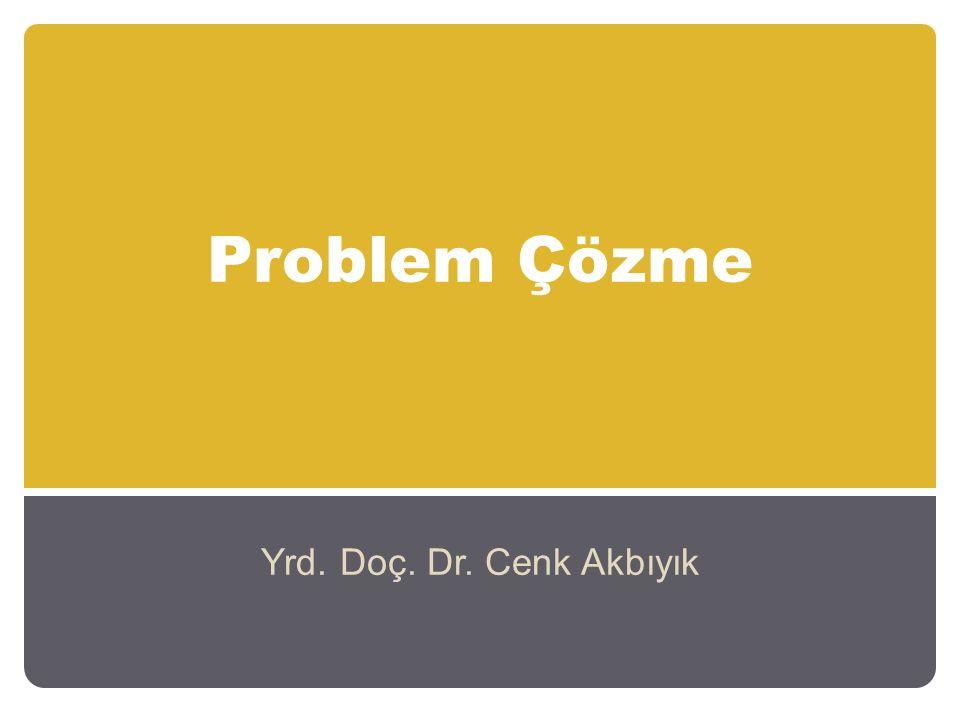 Problem Çözme Yrd. Doç. Dr. Cenk Akbıyık
