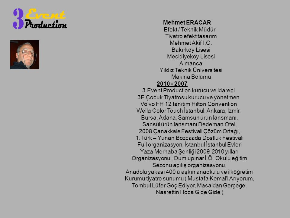 Yıldız Teknik Üniversitesi Makina Bölümü 2010 - 2007