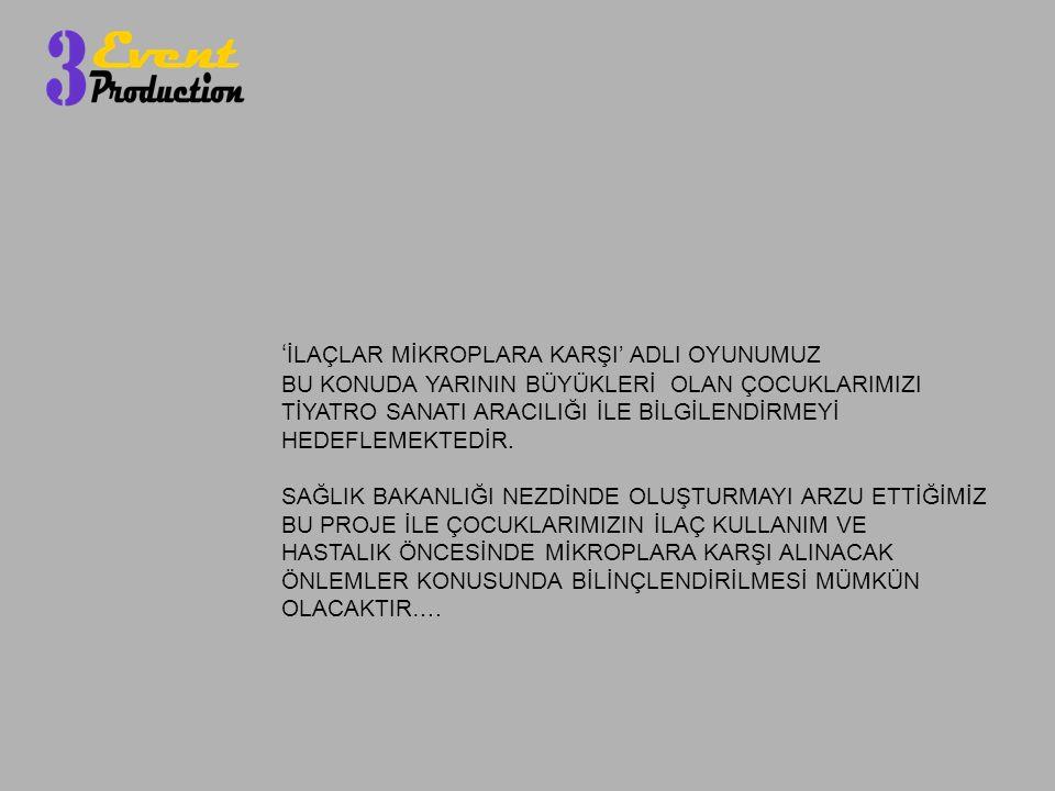 'İLAÇLAR MİKROPLARA KARŞI' ADLI OYUNUMUZ