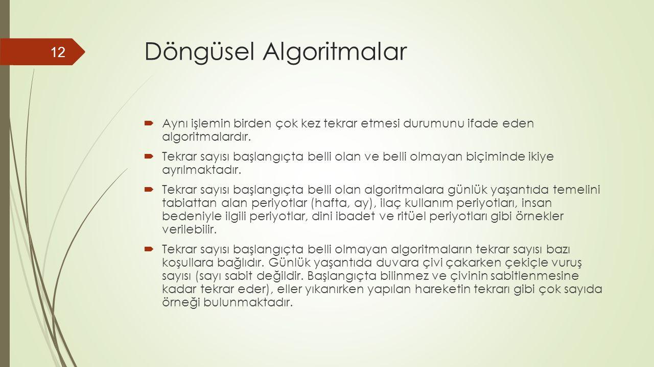 Döngüsel Algoritmalar