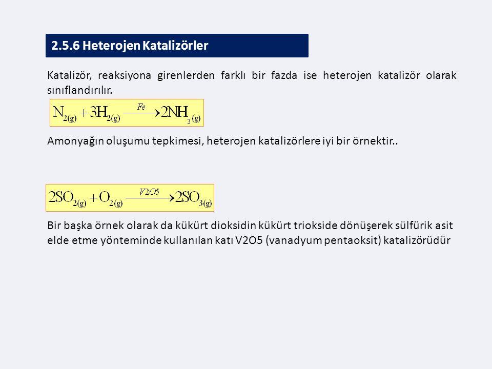 2.5.6 Heterojen Katalizörler
