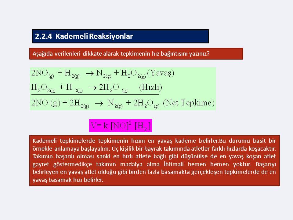 2.2.4 Kademeli Reaksiyonlar
