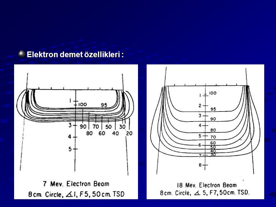 Elektron demet özellikleri :