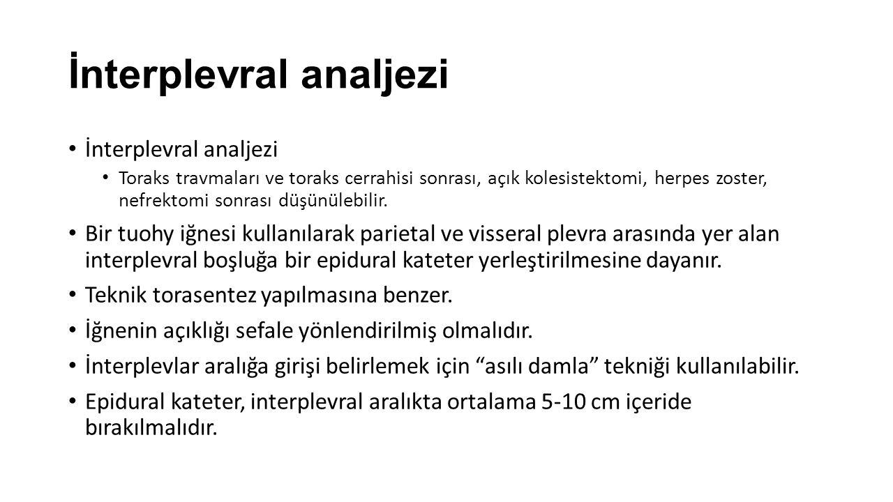 İnterplevral analjezi