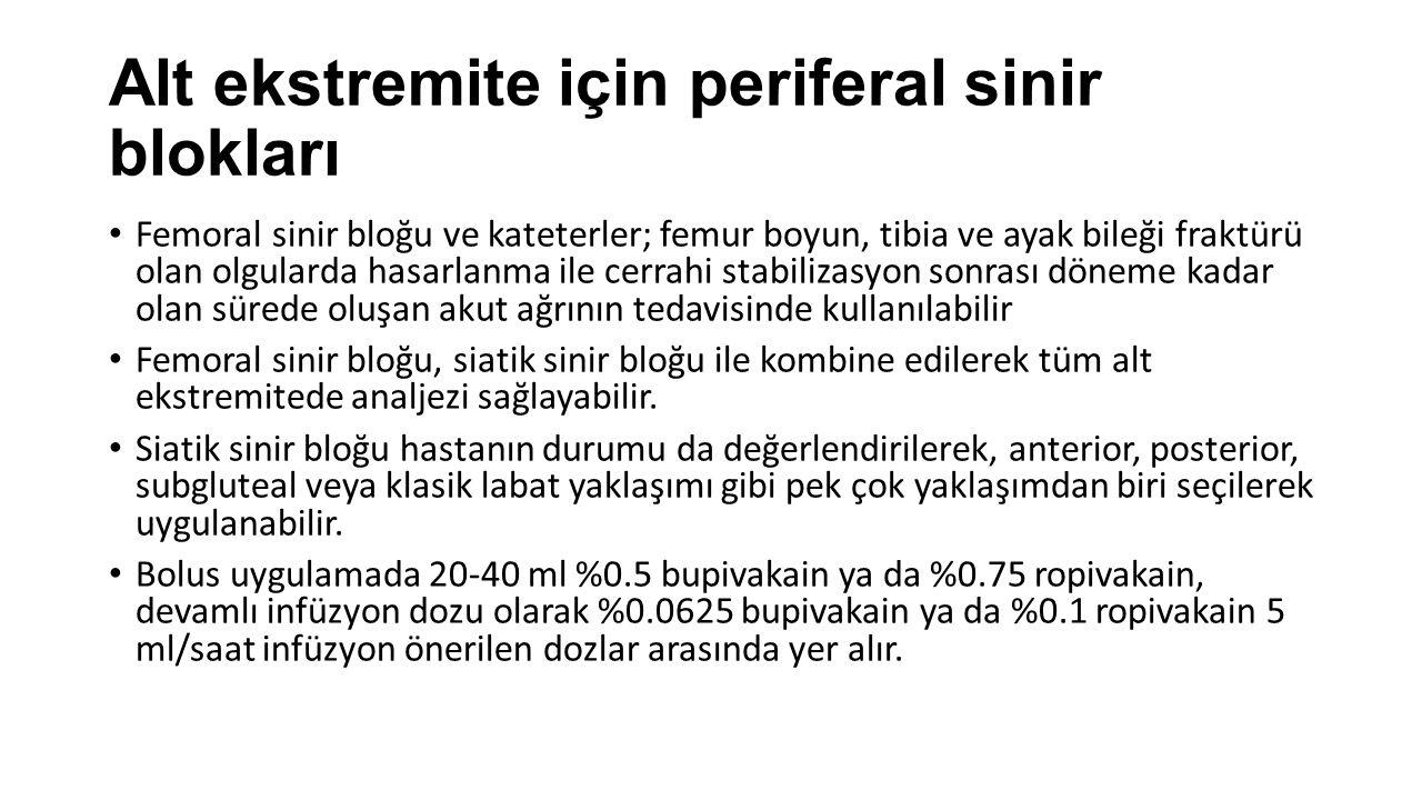 Alt ekstremite için periferal sinir blokları