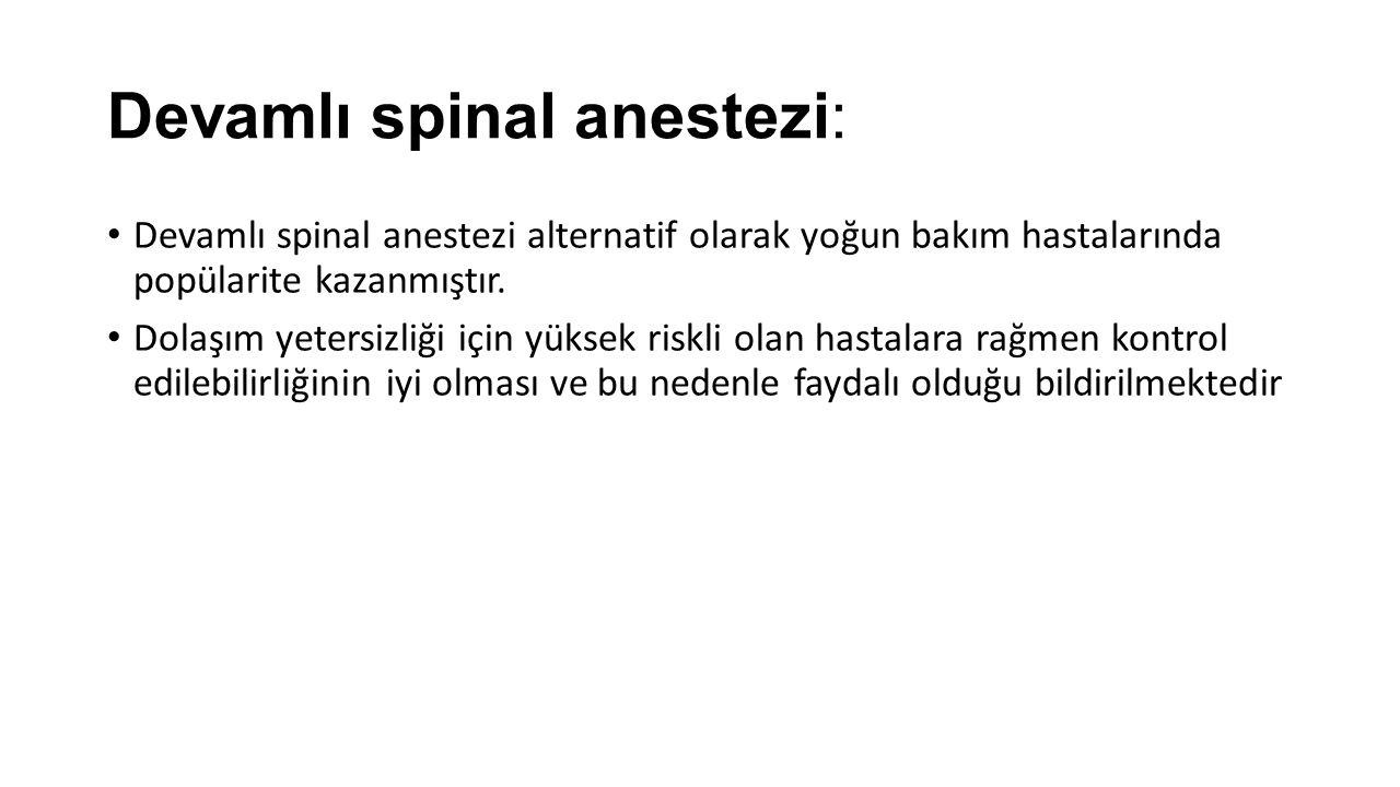 Devamlı spinal anestezi: