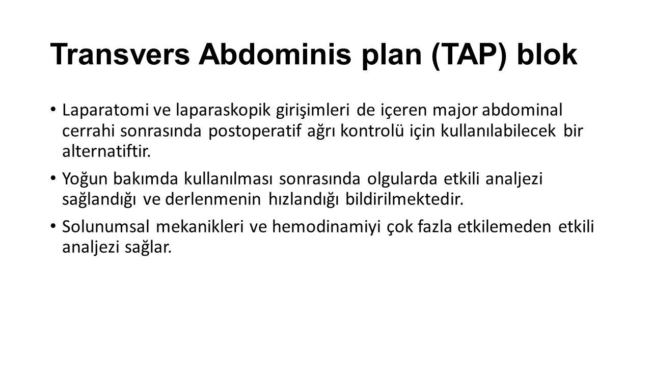 Transvers Abdominis plan (TAP) blok