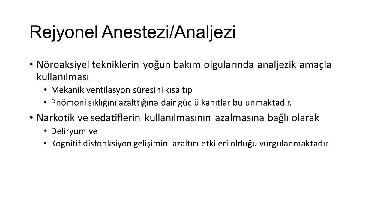 Rejyonel Anestezi/Analjezi