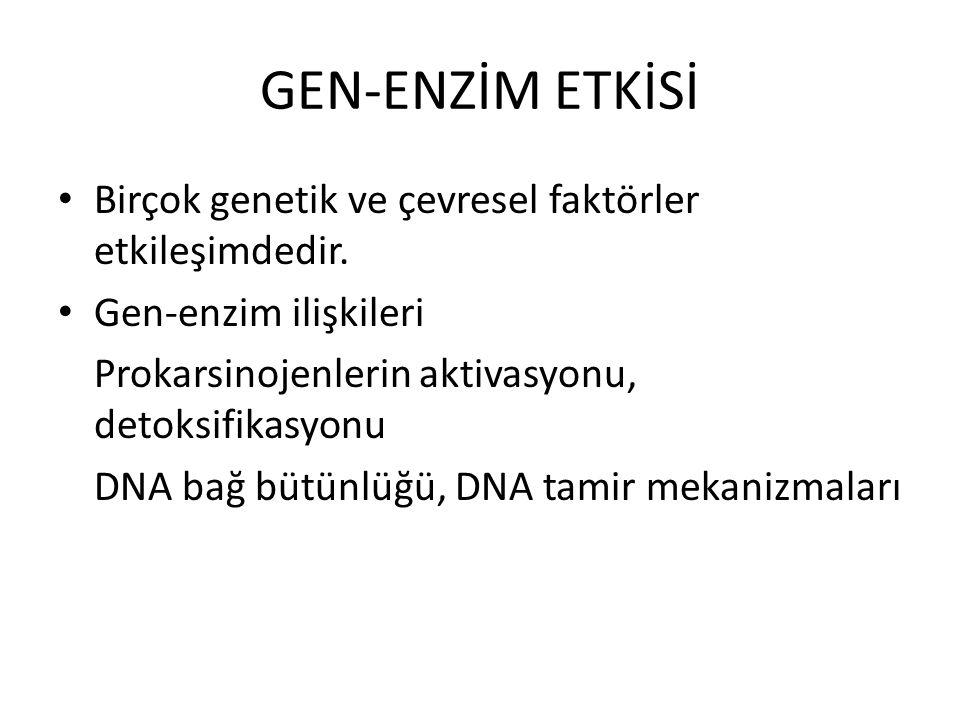 GEN-ENZİM ETKİSİ Birçok genetik ve çevresel faktörler etkileşimdedir.