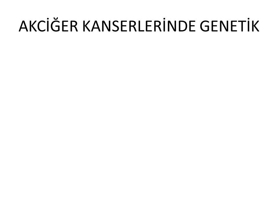 AKCİĞER KANSERLERİNDE GENETİK