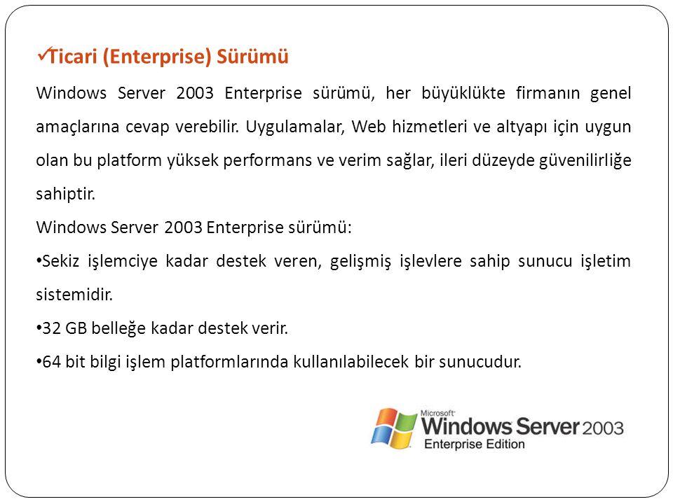 Ticari (Enterprise) Sürümü