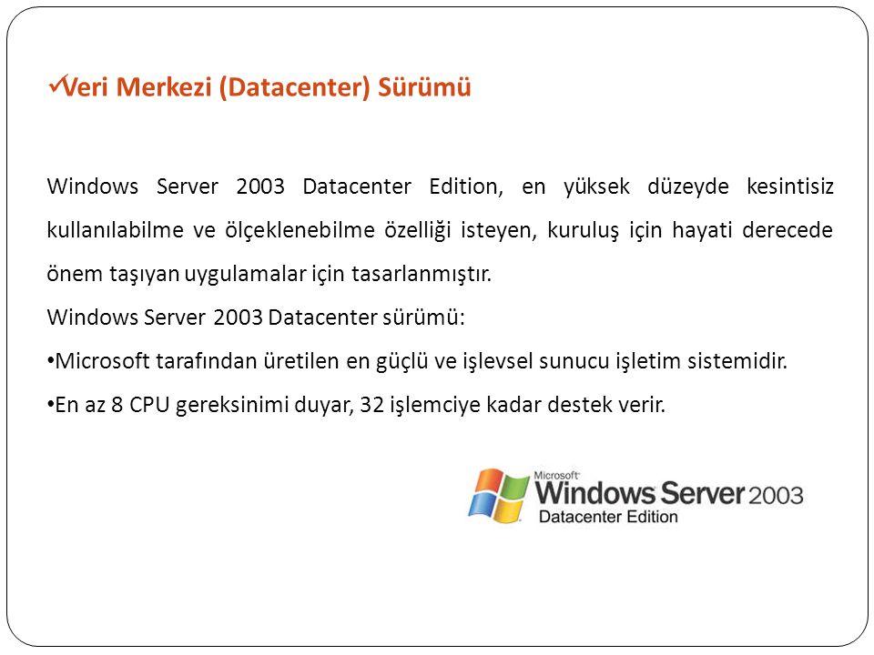 Veri Merkezi (Datacenter) Sürümü