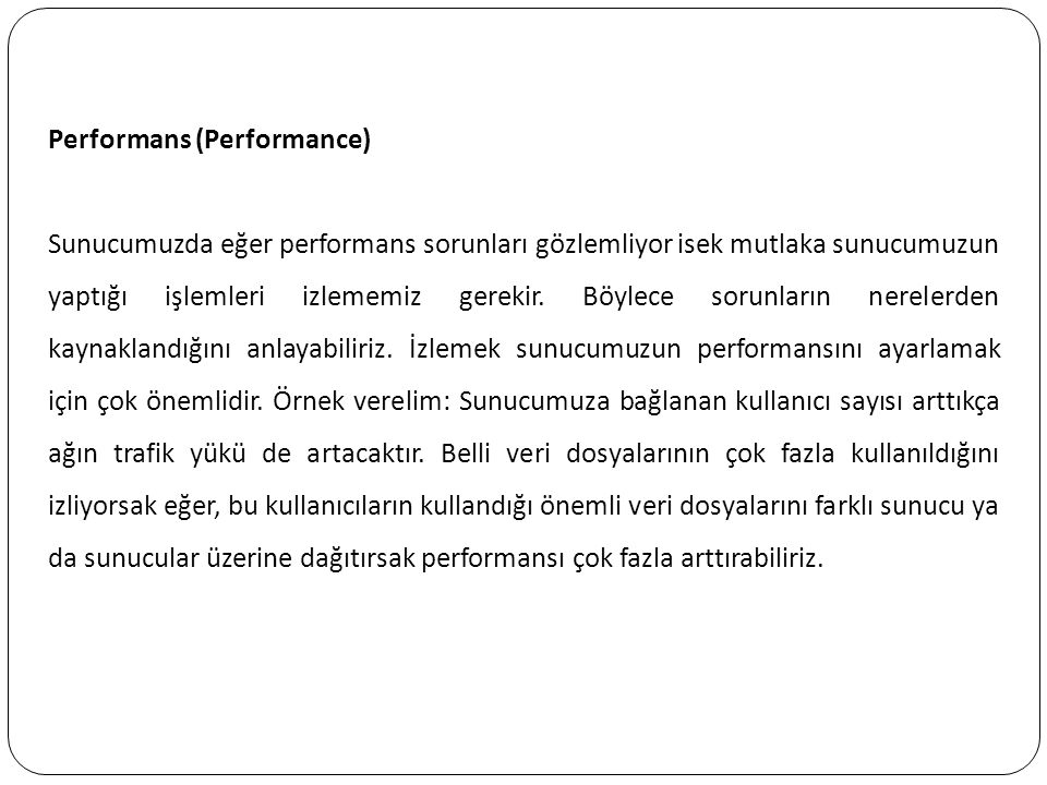 Performans (Performance)
