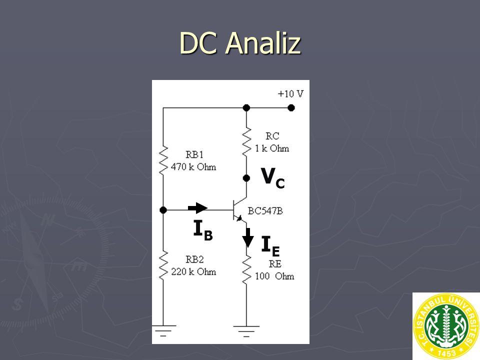 DC Analiz VC IB IE