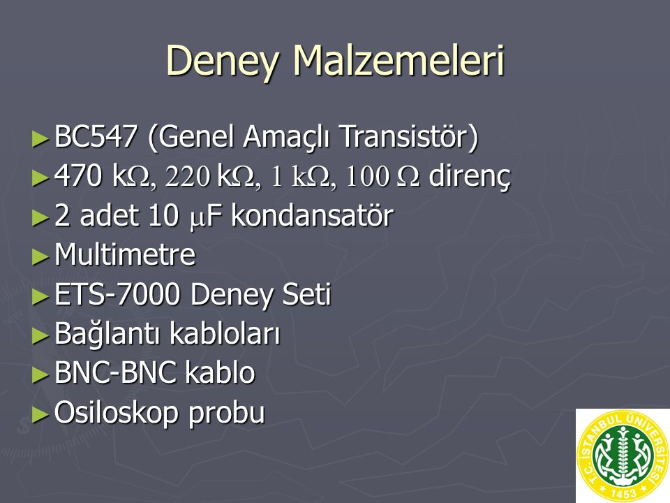 Deney Malzemeleri BC547 (Genel Amaçlı Transistör)