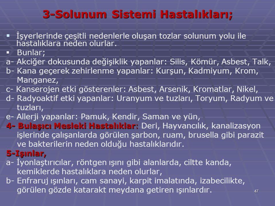 3-Solunum Sistemi Hastalıkları;