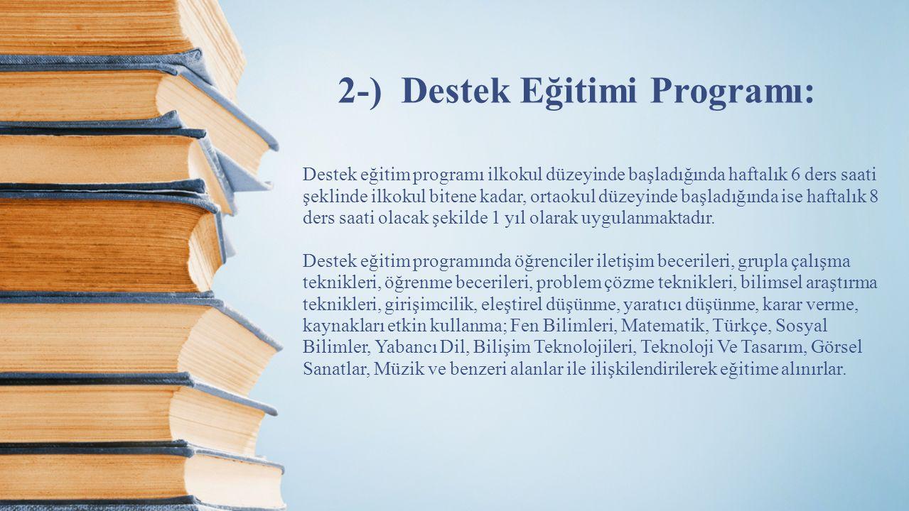 2-) Destek Eğitimi Programı: