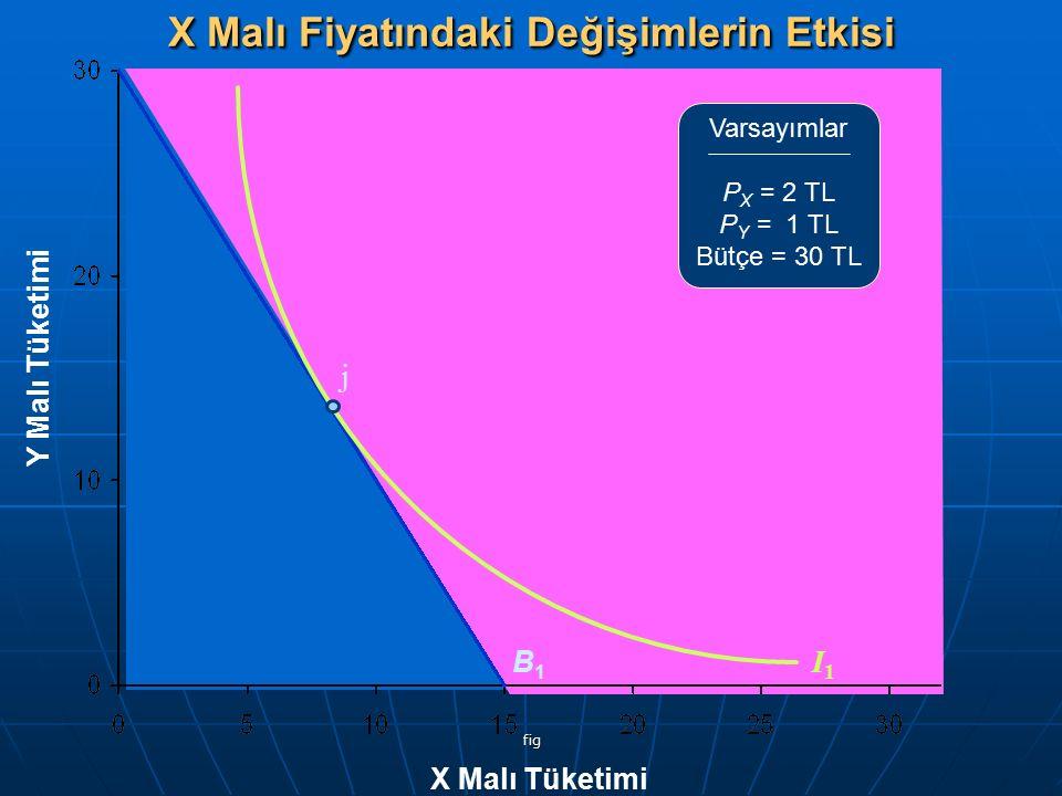 X Malı Fiyatındaki Değişimlerin Etkisi