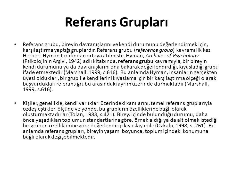 Referans Grupları