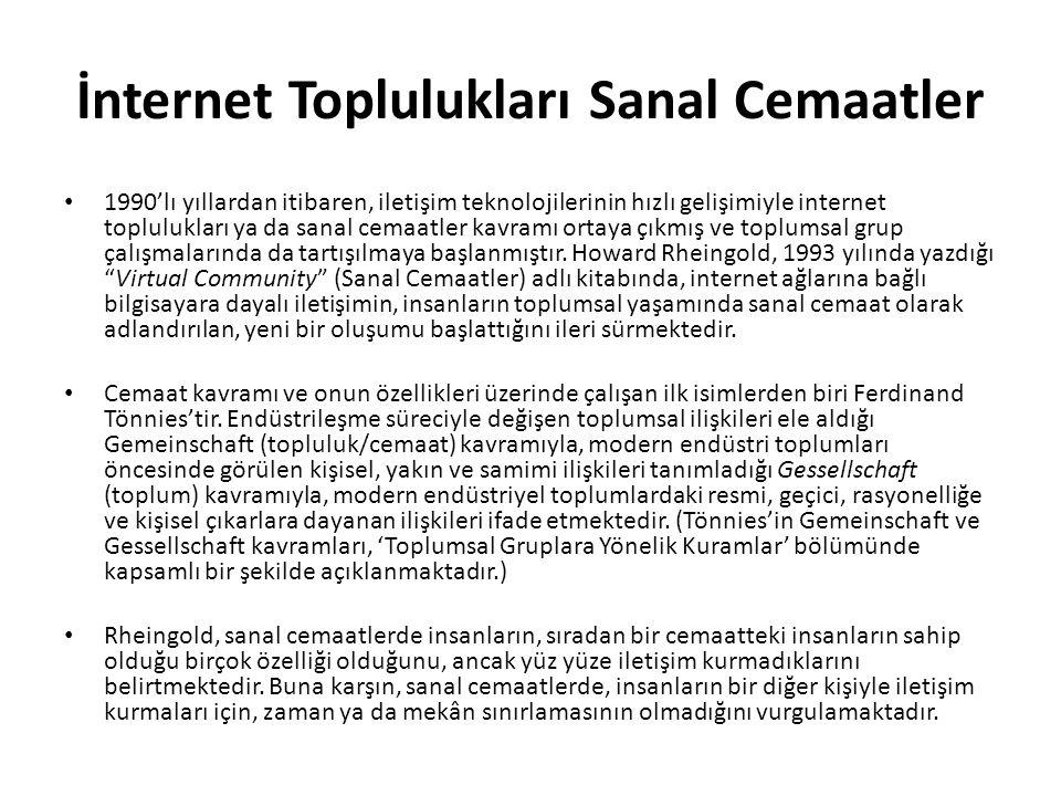 İnternet Toplulukları Sanal Cemaatler