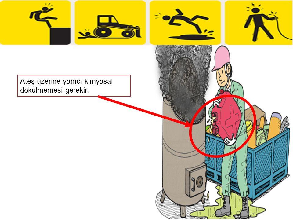 Ateş üzerine yanıcı kimyasal dökülmemesi gerekir.