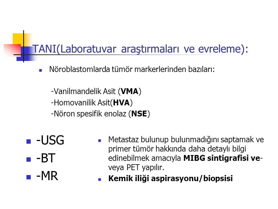 TANI(Laboratuvar araştırmaları ve evreleme):