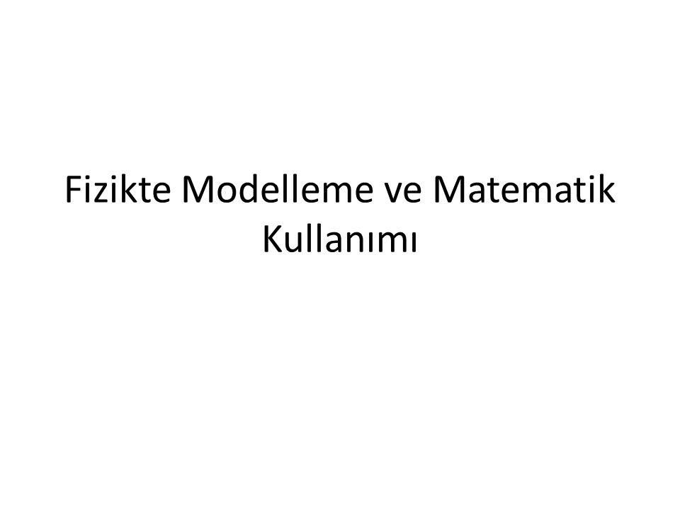 Fizikte Modelleme ve Matematik Kullanımı