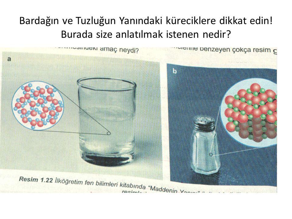 Bardağın ve Tuzluğun Yanındaki küreciklere dikkat edin